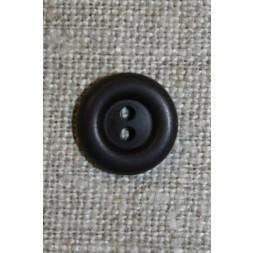 2-huls knap mørkebrun 12 mm.-20