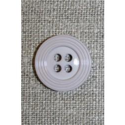 4-huls knap m/kant lysegrå 18 mm.-20