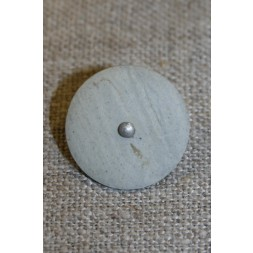 Grå/kit knap m/sølv-midte, 20 mm.-20