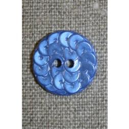 Knap i Palliet-look, blå 18 mm.-20