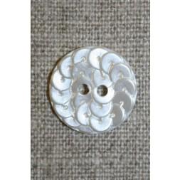 Knap i Palliet-look, off-white 18 mm.-20