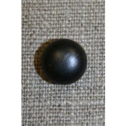 Rund knap, 11 mm. sort blank-20