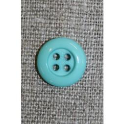 4-huls knap 12 mm, aqua/lysegrøn-20