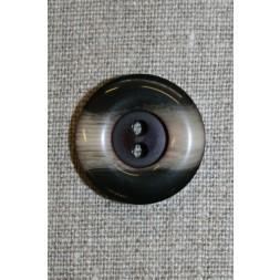 Brun/beige 2-huls knap, 25 mm.-20