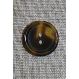 Knap klar/brun meleret, 22 mm.-20