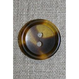 Knap klar/brun meleret, 20 mm.-20