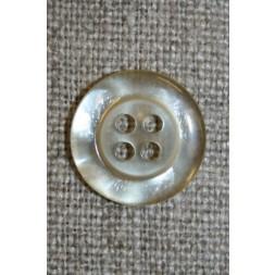 Off-white blank 4-huls-knap, 15 mm.-20