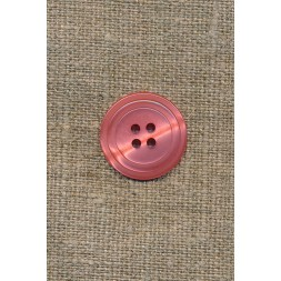 4-huls knap m/cirkel, koral-20