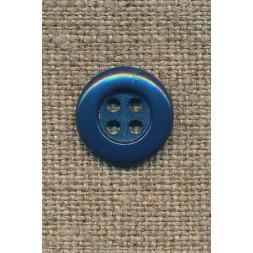 4-huls knap 12 mm, petrol-blå-20