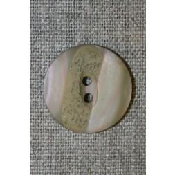 2-huls knap meleret beige/lys oliven, 22 mm.-20