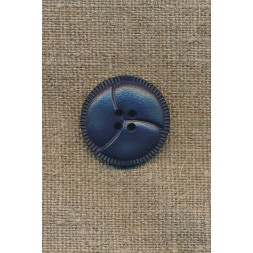 4-huls knap støvet blå 3-delt, 25 mm.-20