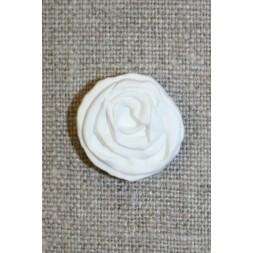Hvid rose knap, 20 mm.-20