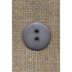 2-huls knap grå, 18 mm.-20
