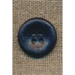 4-huls knap mørkeblå, 20 mm.-20