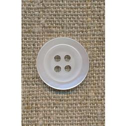 Knækket hvid blank 4-huls knap 17 mm-20