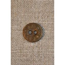 Knap gl.guld m/hieroglyffer, 12 mm.-20