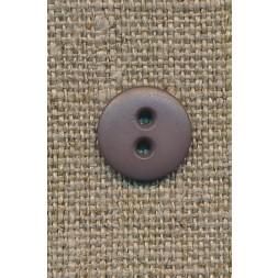 2-huls knap grå-brun 12 mm.-20