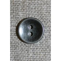 2-huls knap sort/sølv, 11 mm.-20