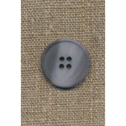4-huls knap støvet lyseblå/grå, 23 mm.-20