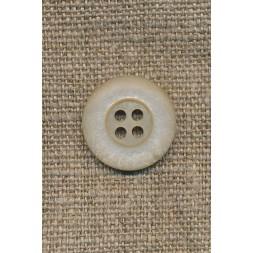 Beige 4-huls knap, 18 mm.-20