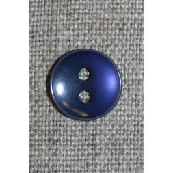 Blå-lilla 2-huls knap, 13 mm.-20