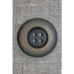 4-huls knap mørkebrun/gylden, 23 mm.-20