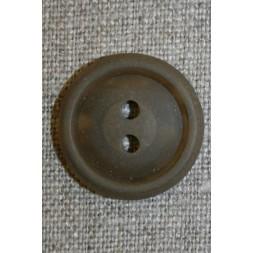 Lysebrun knap m/kant, 23 mm.-20