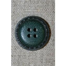 4-huls knap m/kant, flaskegrøn-20