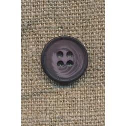 4-huls knap meleret lilla/lyng, 15 mm.-20