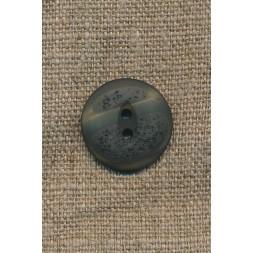2-huls knap meleret grå-grøn/mørkegrøn, 20 mm.-20