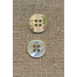 4-huls knap off-white perlemors-look 12 mm.-20