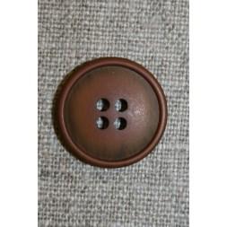4-huls knap rust-brun-20