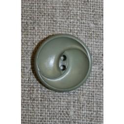 Knap m/buer, grå-grøn 20 mm.-20