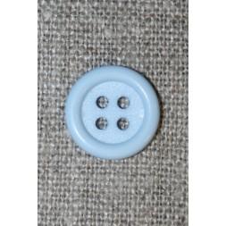 4-huls knap babylyseblå, 14 mm-20