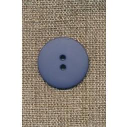2-huls knap støvet blå/denim, 25 mm.-20