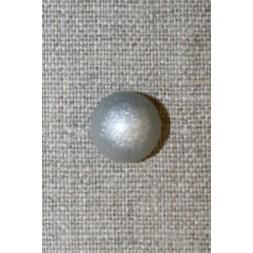 Rund grå knap m/sølv-glimmer, 13 mm.-20