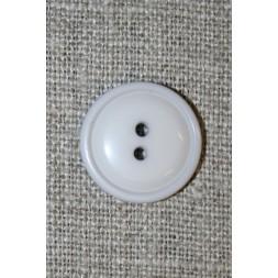 Lys lysegrå 2-huls knap, 18 mm.-20