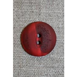 2-huls knap meleret/krakeleret rød/mørkerød, 20 mm.-20