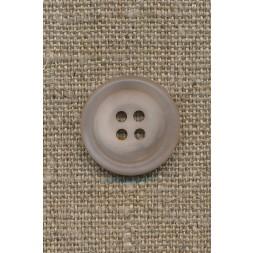 4-huls knap sand/klar, 20 mm.-20