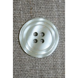 4-huls knap m/cirkel, lys lysegrå/blå-20
