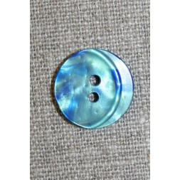 Blank 2-huls knap petrol-grøn/blå-20