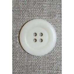 4-huls knap off-white, 23 mm.-20