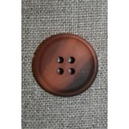 4-huls knap pudder-laks/grå-brun meleret, 23 mm.-20