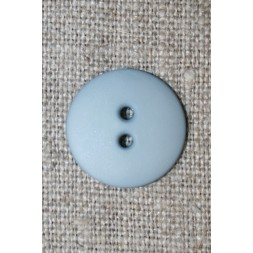2-huls knap støvet lyseblå 18 mm.-20