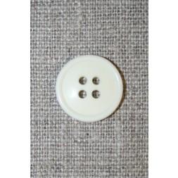 4-huls knap knækket hvid 17 mm.-20