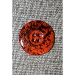 Knap m/pletter orange/sort 18 mm.-20