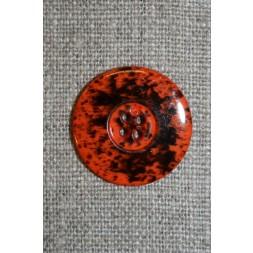 Knap m/pletter orange/sort 23 mm.-20