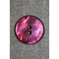 Blank 2-huls knap lyng/pink, 20 mm.-20