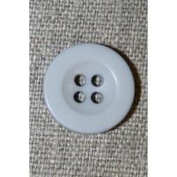 Lys lysegrå 4-huls knap, 18 mm.-20
