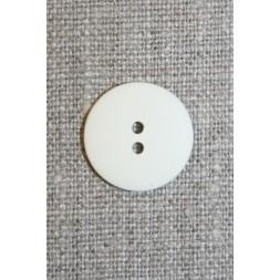 Knækket hvid 2-huls knap, 18 mm.-20
